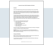 Summary Document for Parents